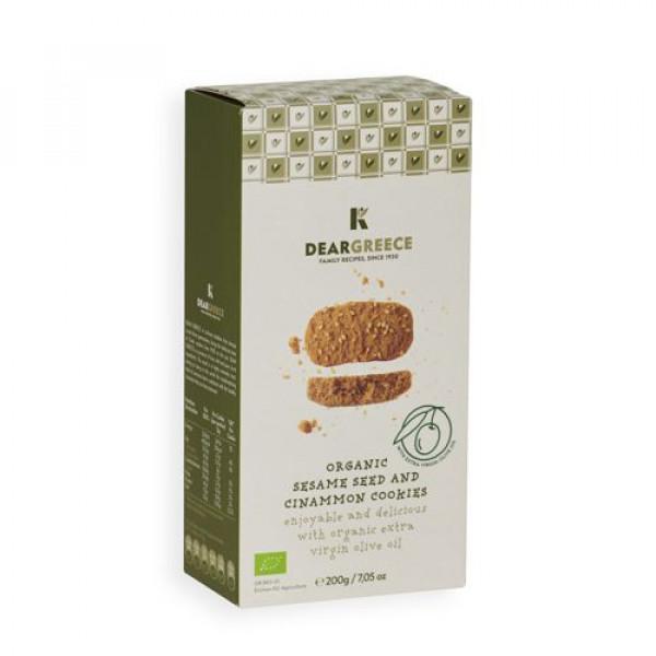 Βιολογικά μπισκότα σουσάμι & κανέλα