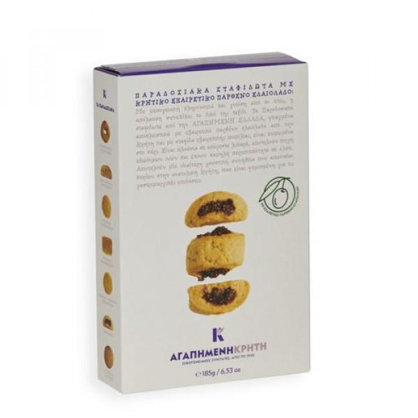 Παραδοσιακά μπισκότα σταφιδωτά