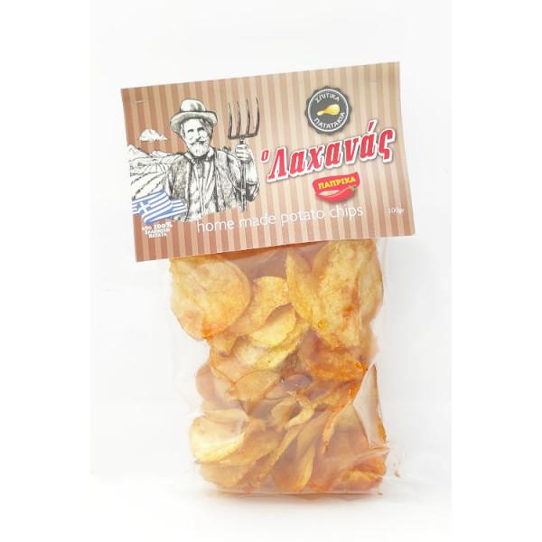 Τσίπς πατάτας με πάπρικα