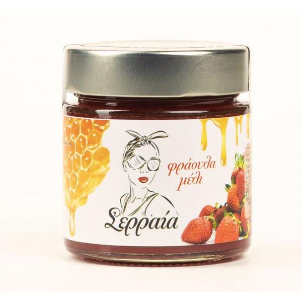 Μαρμελάδα φράουλα με μέλι χωρίς ζάχαρη