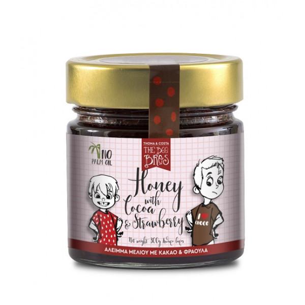 Άλειμμα με μέλι κακάο & φράουλα χωρίς γλουτένη